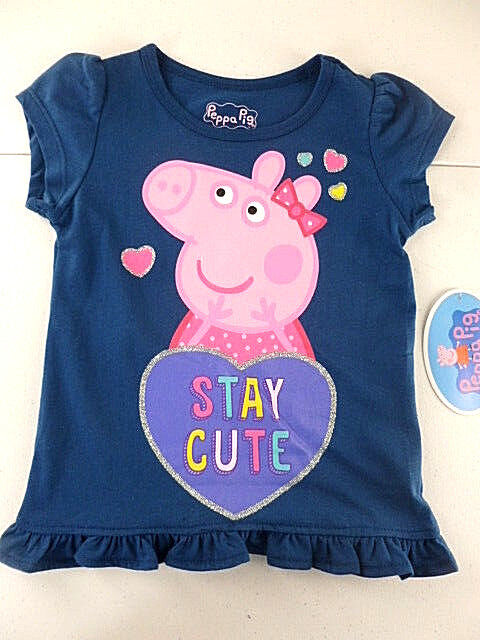 be9af2b1d Peppa Pig T-shirt Toddler Girls Size 4t Short Sleeve Navy Stay Cute for  sale online   eBay