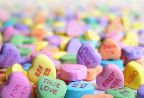 Valentines Day Candy Hearts Art Picture Poster Photo Print 1VAL