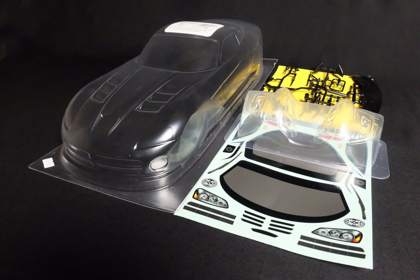 1//10 RC Car Lexan Body Clear Shell Dodge Viper SRT10 fit Tamiya Yokomo Chassis