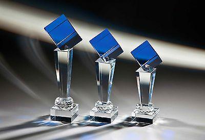 Glaspokale Glas Pokal mit DEINER individuellen Gravur BLUE LINE 2 TOP Pokale