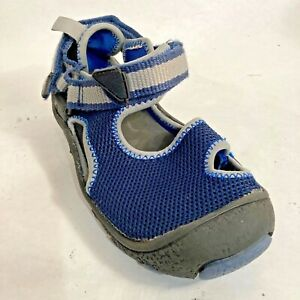 YOUTH Kid's SANDALS Shoes Closed Toe Blue HIKE PLAY SIZE 13 US  31 EUR 12 UK