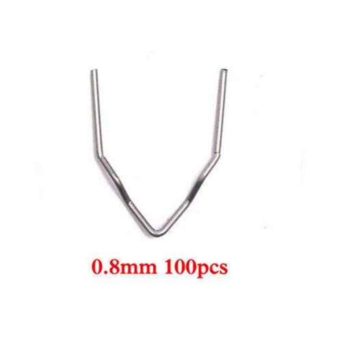 100 Pcs//Set 0.6//0.8MM Hot Wave Flat Staples For Plastic Stapler Repair Welder