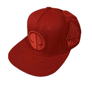 hot topic deadpool Patch embroidered snapback hat - Marvel - Adjustable Red Cap