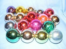 Selection Of 18 Glass Christmas Tree Decoration Baubles Ornaments Coloured