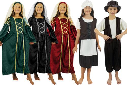 CHILDS TUDOR COSTUMES POOR RICH SCHOOL KIDS HISTORICAL VICTORIAN FANCY DRESS