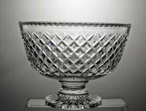 LARGE-STUART-CRYSTAL-CUT-GLASS-FOOTED-FRUIT-BOWL-CENTERPIECE-9-3-4-034-DIAMETER