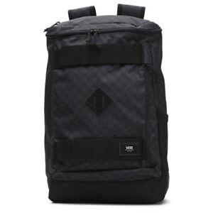 1d1301974aa77 Image is loading Vans-HOOKS-SKATEPACK-Black-Charcoal-NEW-Backpack-Bag-