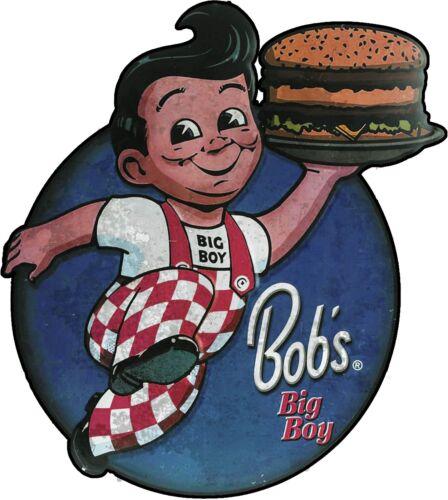 Bob/'s Big Boy Distressed Plasma Cut Metal Sign
