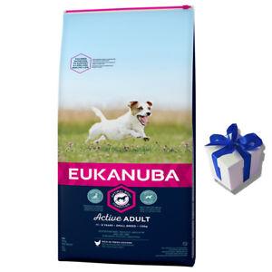 Eukanuba 15 Kg Adulte Actif Poulet Nourriture Pour Chien Petites Races Cadeau