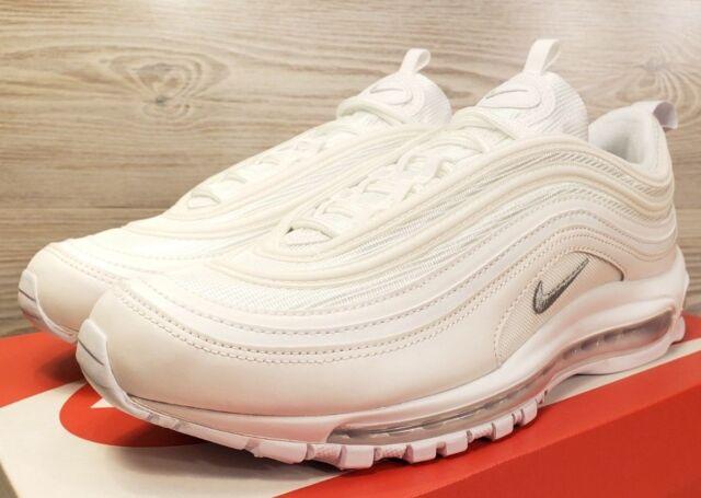 Nike Air Max 97 White Wolf Grey Fashion Sneakers 921826 101 Pick Men s Size 016c2b4855c