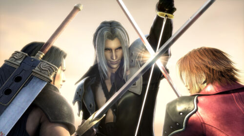 """Final Fantasy 7 Core Crisis Sephiroth Genesis Angeal Large Anime Poster 41/""""x 24/"""""""