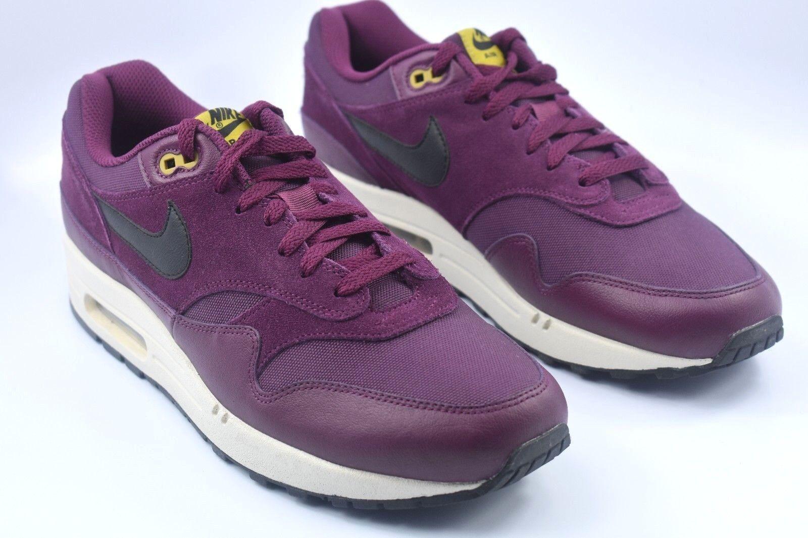 Nike air max 1 premio Uomo misura di scarpe di bordeaux, bordeaux il dolce 875844 601