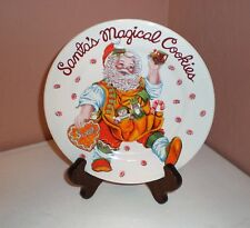 "Sakura ""Santa's Magical Cookies"" Plate  by Cheryl Ann Johnson"