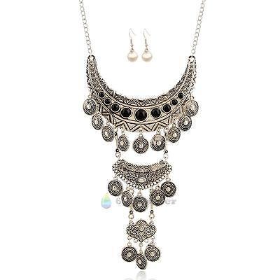 Chic Women Jewelry Pendant Chain Crystal Choker Chunky Statement Bib Necklace