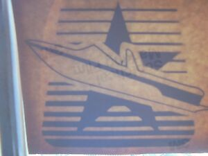 "MASTERCRAFT BOAT DECAL VINYL STICKER BURGANDY OR DARK RED 6"" X 5"""