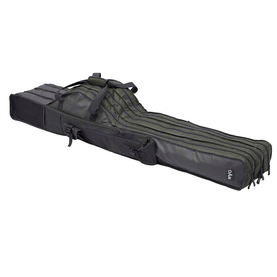 Dam 3 rod compartimento Bag cañas bolso para 3 cañas con ruedas bolsa castaña