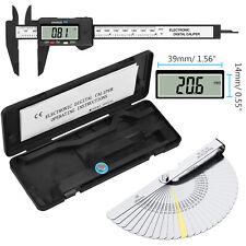 6 Electronic Digital Vernier Caliper Micrometer Guage Lcd With Feeler Gauge
