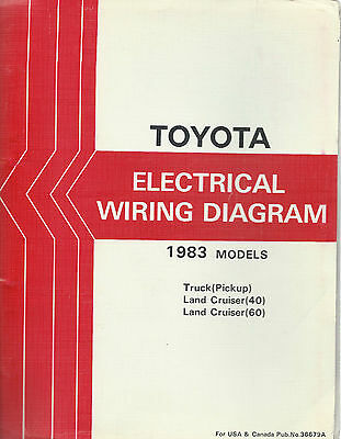 1983 Toyota Land Cruiser FJ BJ 40 Series Electrical Wiring Diagram Repair  Manual | eBayeBay