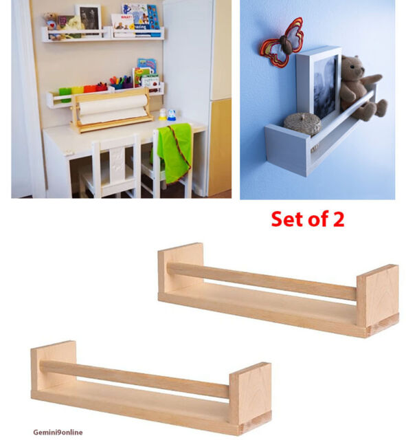 IKEA Spice Rack BEKVAM 2-Pk Wall Shelves Kitchen for Books, Toys Free  Shipping