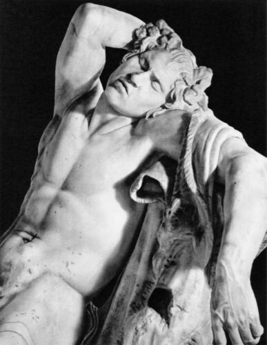 Sculpture Decorative Art.1695 B /& W POSTER.Stylish Graphics Donatello