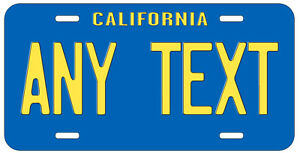 Personalized Custom California Blue State License Plate Name Novelty Car Tag