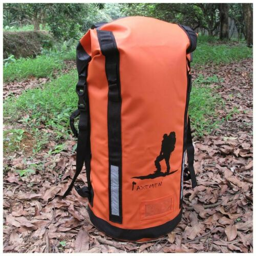 45L Waterproof Dry Bag Roll-Top Backpack with Padded Strap /& Side Handle