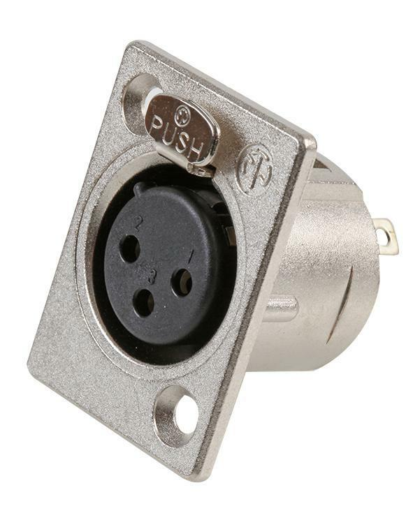 NEUTRIK PANEL SOCKET - 3 PIN - Audio Video Connectors - Connectors