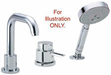 Hansgrohe 04128000 Focus S 3-Hole Thermostatic Tub Filler Trim