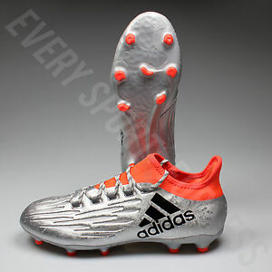 Adidas X 16.2 FG Soccer Cleats S79537 - Silver Black Red (NEW) Lists ... d3516464561
