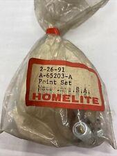 NOS Homelite SUPER EZ,EZ AUTO,XL MINI Point SET 65203 Vintage Chainsaw
