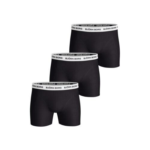 Björn Borg Herren Noos Contrast Solids Shorts   Boxer Short schwarz 3er Pack NEU