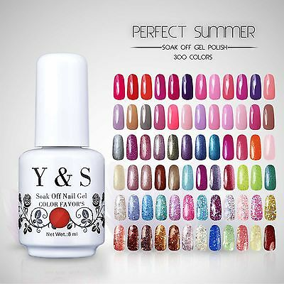 Y&S Soak Off UV Gel Nail Polish Gel Color Nail Art Lacquer Manicure Glitter 8ML