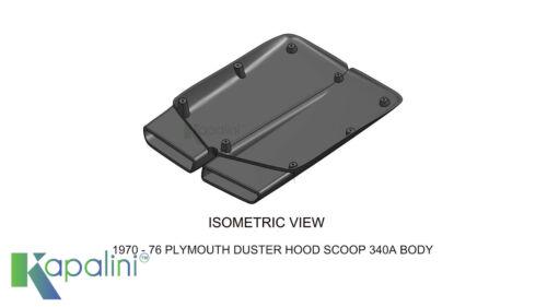 Plymouth Duster 1970-76 Fiberglass Hood Scoop 340 A Body