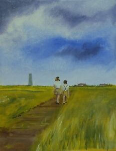 Walking-home-from-Moreton-Shore-Acrylic-Painting