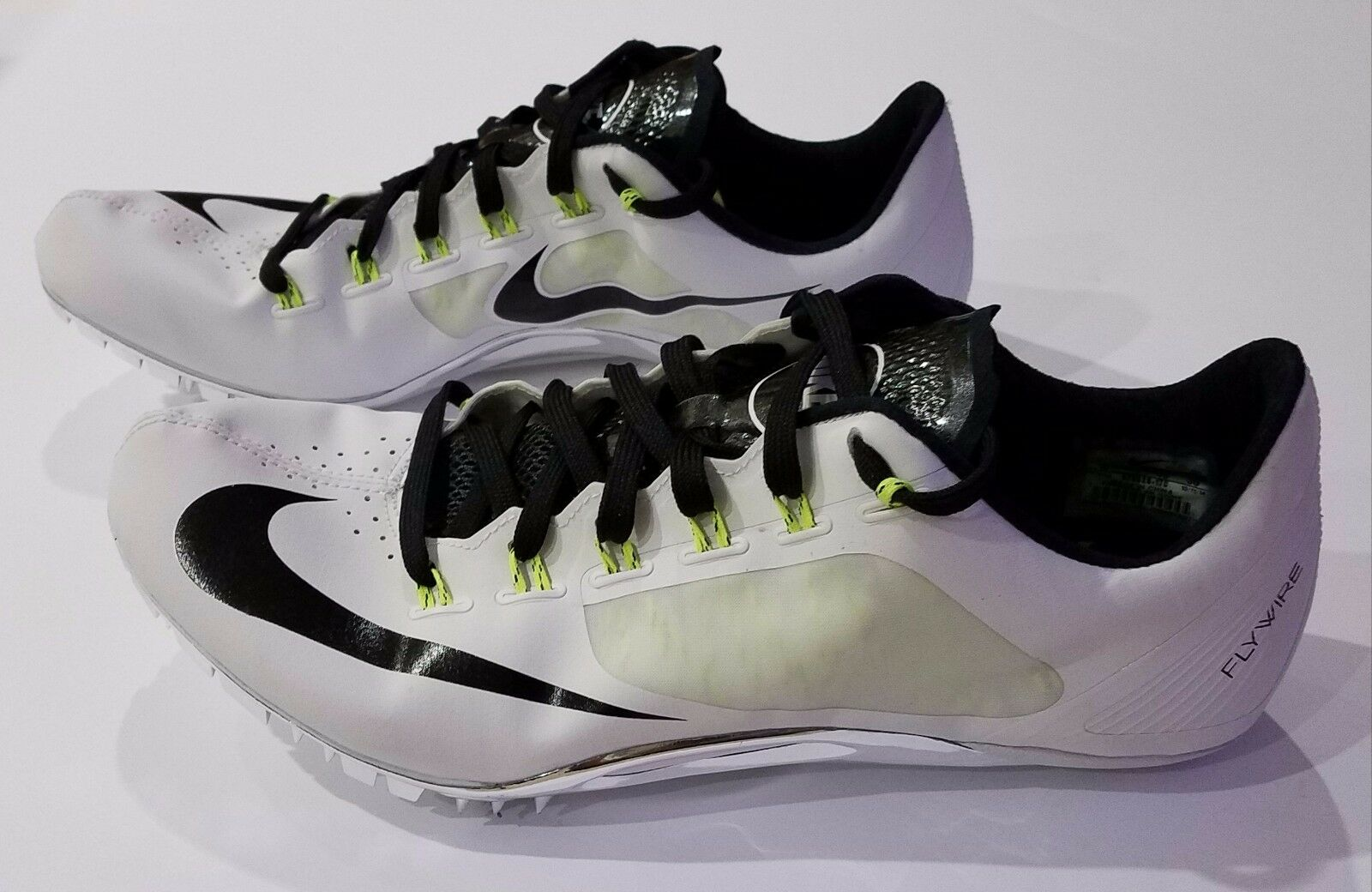 Nike Superfly R4 White Black Volt Track Spikes 526626-170 Mens Comfortable