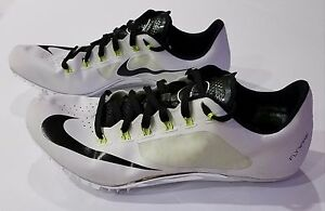 finest selection 87c1f b0697 Image is loading Nike-Superfly-R4-White-Black-Volt-Track-Spikes-