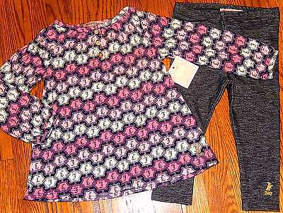JUICY COUTURE TODDLERS/KIDS GIRLS BRAND NEW 2Pc DRESS LEGGINGS SET Size 4T, NWT