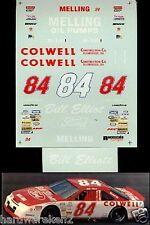 NASCAR DECAL #84 COLWELL CONSTRUCTION 1991 BGN FORD THUNDERBIRD BILL ELLIOTT