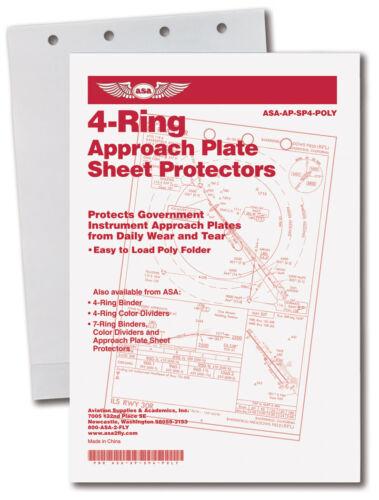 ASA Poly Sheet Chart Protector Folders NOS//NACO 4-Ring ASA-AP-SP4-POLY