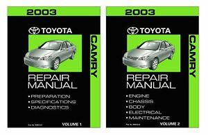 Bishko OEM Repair Maintenance Shop Manual Bound for Toyota Land Cruiser 2003
