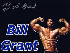 Bill Grant Signed Autographed 8x10 Photo - Bodybuilding Mr. World & Mr. America