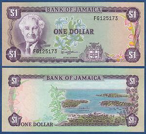 Jamaika Unc P.64a 1982-86 Jamaica 1 Dollar