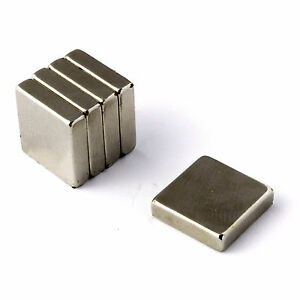 """Strong Magnets Neodymium 1/2"""" x 1/2"""" x 1/8"""" * Pull force 3Kg * Powerful Block"""