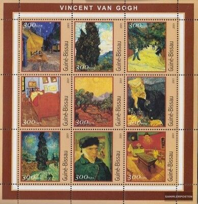 Never Hinged 2001 Picasso-pain Modern Design Stamps Stamps Guinea-bissau 1651-1659 Sheetlet Unmounted Mint