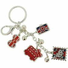 Hello Kitty Girls London Bag 4 Charms Keyring SC1063