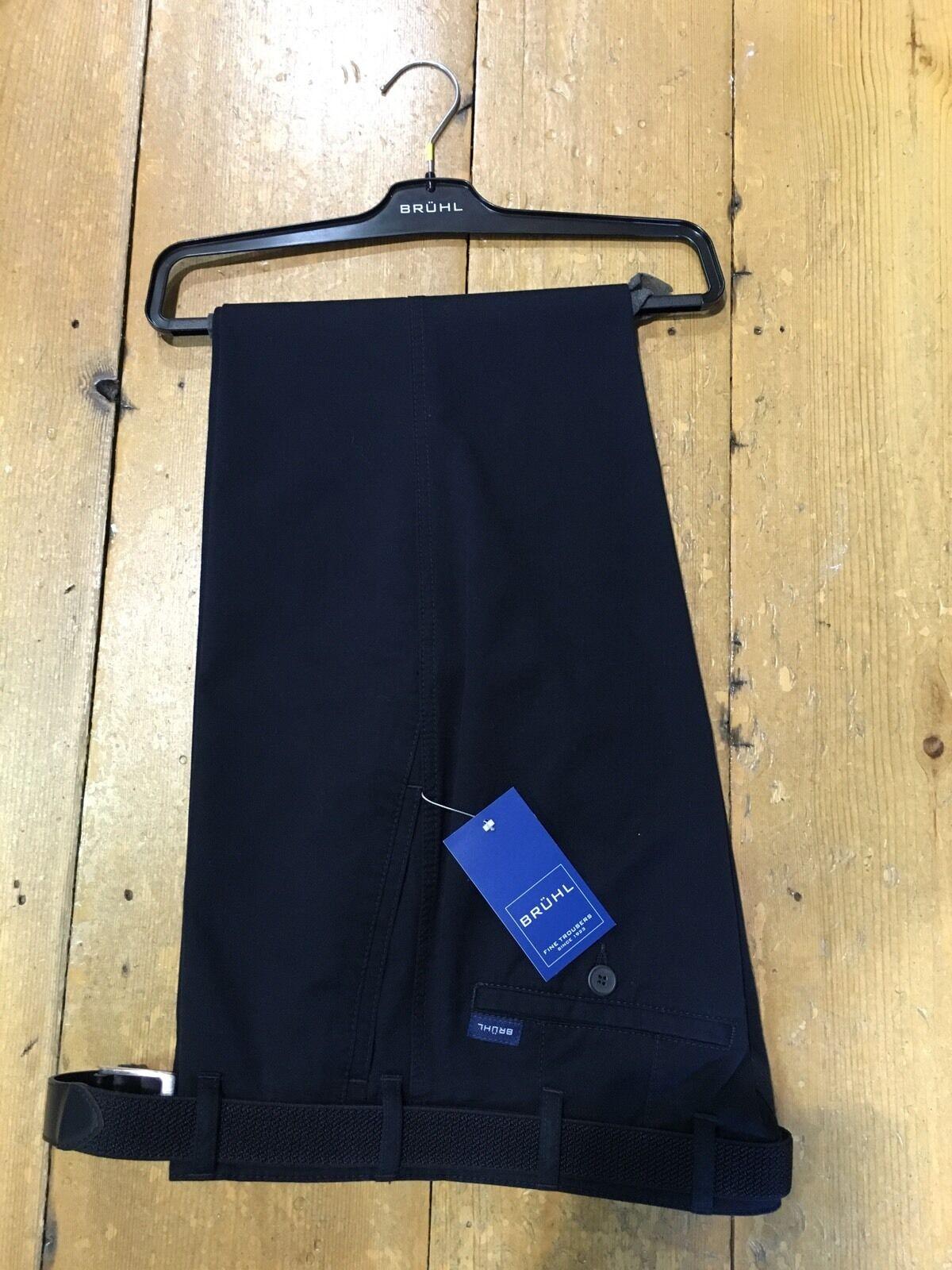 BRUHL® Stretch Cotton MONTANA Regular Fit Trousers Navy (Marine) - 56 32