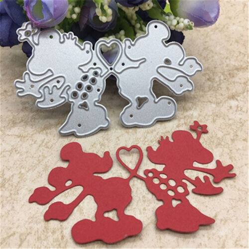 Heart Mouse Toys Doll Metal Cutting Dies Scrapbook Cards Photo Albums Craft LS