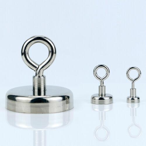 5 Stück Magnethaken Starker Neodym Hacken Magnet Haftkraft 34KG Aufhängen 32mm