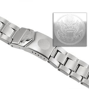 US-Military-Marathon-Men-039-s-Stainless-Steel-Watch-Band-20mm-WW005005