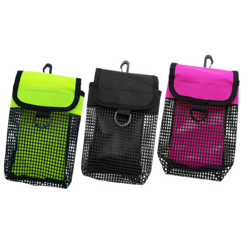 3-Counted Scuba Diving Reel /& SMB Safety Marker Buoy Holder Carry Mesh Bag